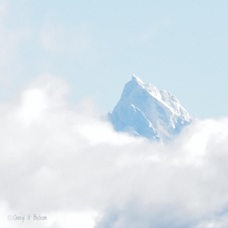 mountain crag resembles rhinocerous horn