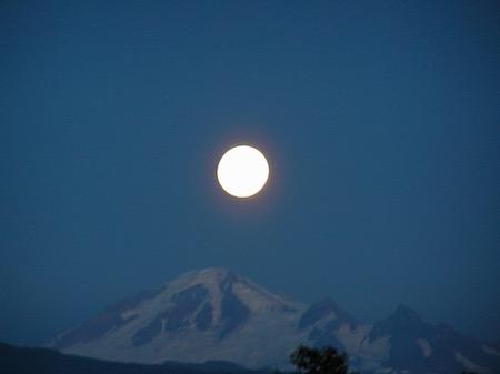 Full Moon over Mt. Baker